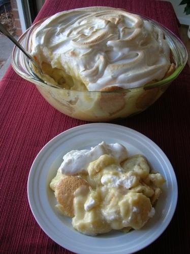 Old-Fashion Banana Pudding, Southern Style.