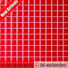 Новое поступление горячей продажи кожуру и палкой 3d красная площадь мозаики, плитки для облицовки стен