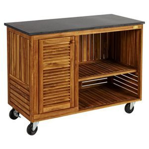 Del Terra Outdoor Wheeled Kitchen With Basalte Table Top