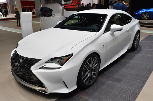 2015 Lexus RC 350 F Sport snarls in Switzerland with darkened demeanor. http://aol.it/1g0qA4D @Lexus @Lexus UK #geneva