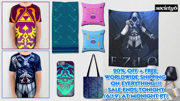 20% OFF + FREE SHIPPING on Everything in my Store!!!  #discount #tshirts #sales #zeldaiphonecase #walltapestries #freeshipping #save #gifts #anchors #babygifts #babyboy #babygirl #pillow #babysroom #legendofzelda #lovecraft #thelegendofzeldatshirt  #trooper #thelegendofzelda  #giftsforhim #giftsforher #society6 #gaming #gaminggifts #gamer #gamersroom #gamergifts #ezioauditore #eziowalltapestry #totebag
