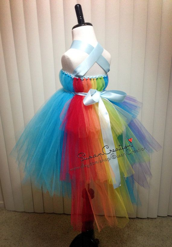 Rainbow Dash tutu dress My little pony tutu dress by SusanCreation