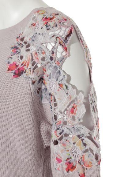 エンブロイダリー肩開きニット(ニット)|FRAY I.D(フレイアイディー)|ファッション通販|ウサギオンライン公式通販サイト