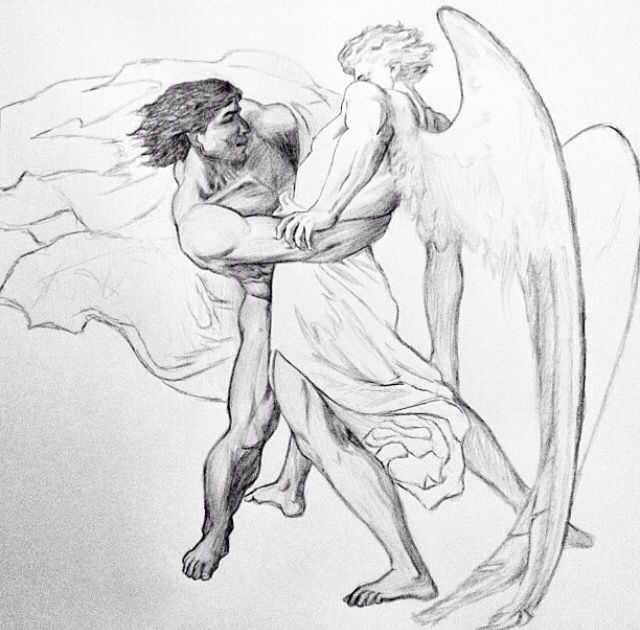 Jacob and the Angel. By Eliude A Santos