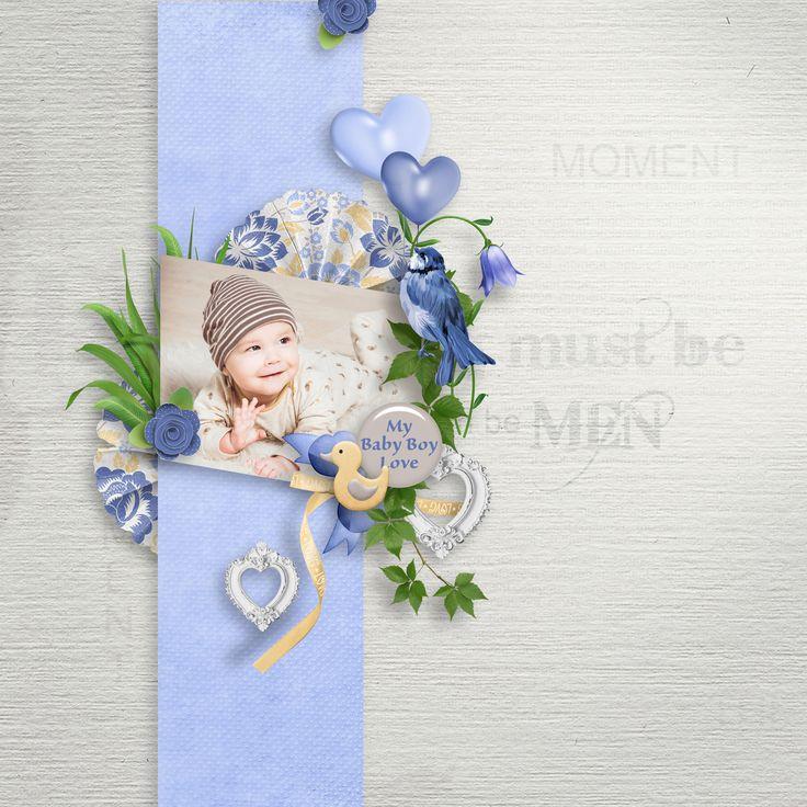 """""""Baby Boy Love"""" by Aurélie Scrap, https://digital-crea.fr/shop/index.php?main_page=index&manufacturers_id=199&zenid=bbbtspq9ovgddk9qmdqlfc52q4, photo Pixabay"""