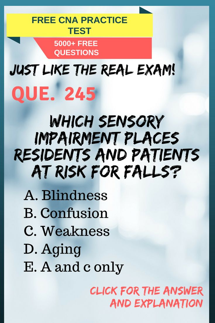 Take This Free Cna Practice Test To Get A Sample Of The Types Of
