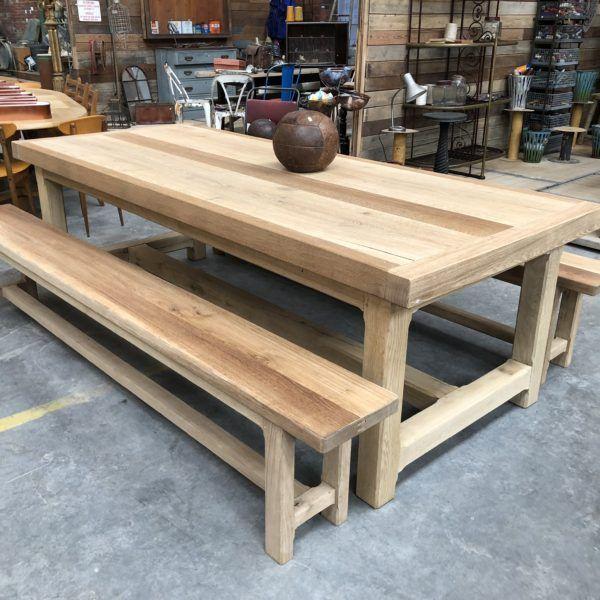 Grande Table De Ferme En Chene Massif Nord Factory Table Chene Massif Table Picnic Table De Ferme