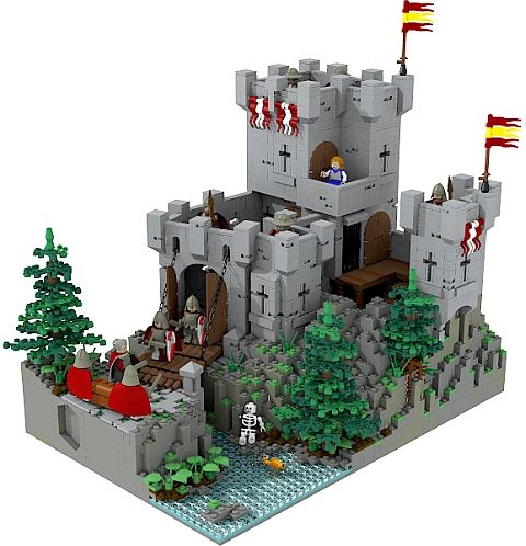 Old lego sets lego castle contest classic set for Modele maison lego classic