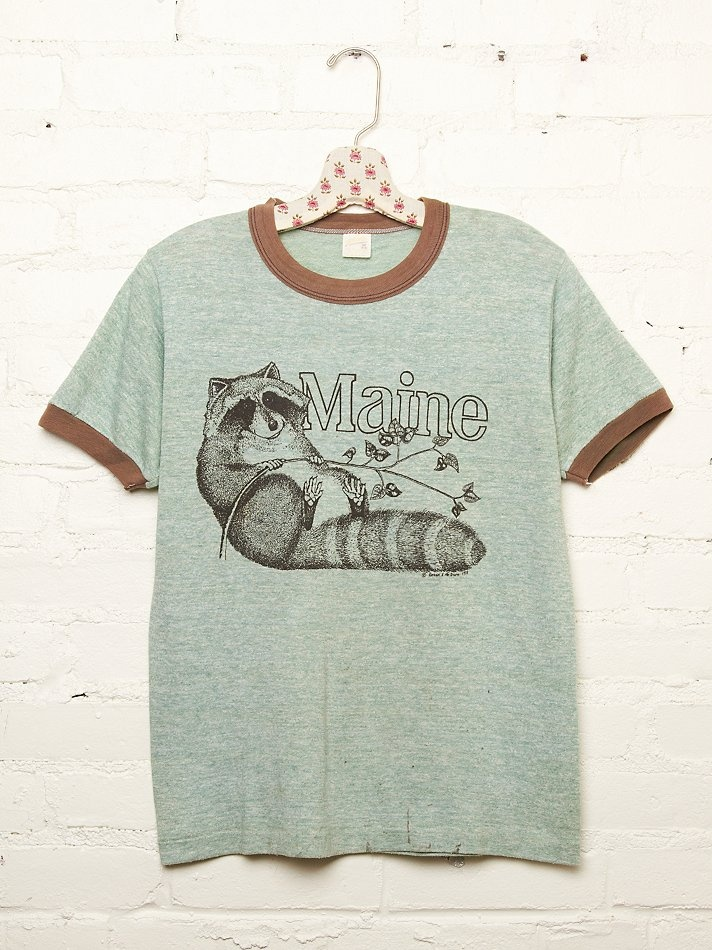 Old School Maine Raccoon T Shirt Just Like They Used To Sell At Groan