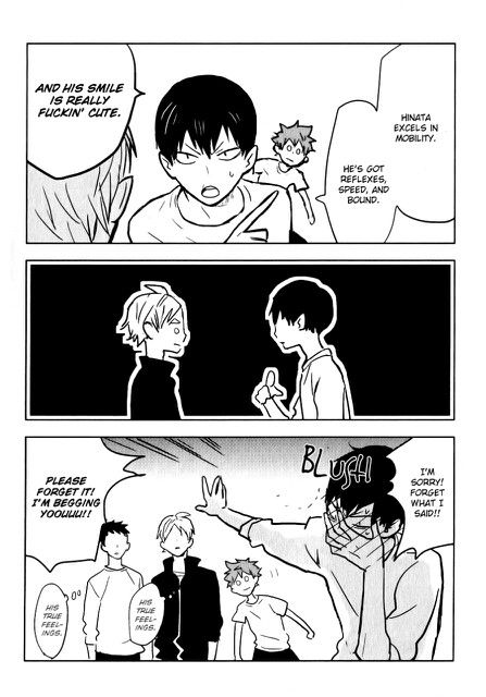 Kageyama x Hinata, Hinata is adorably clueless in the background ⸜♡