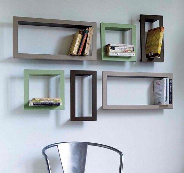 Einstellung inspirierte Design Wandregal aus Holz