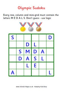 Olympic Games Puzzles