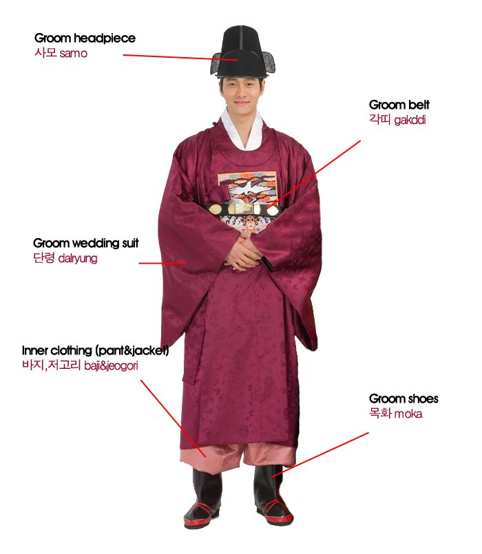 Korean wedding suit for the groom... Nick would never wear this. Lol