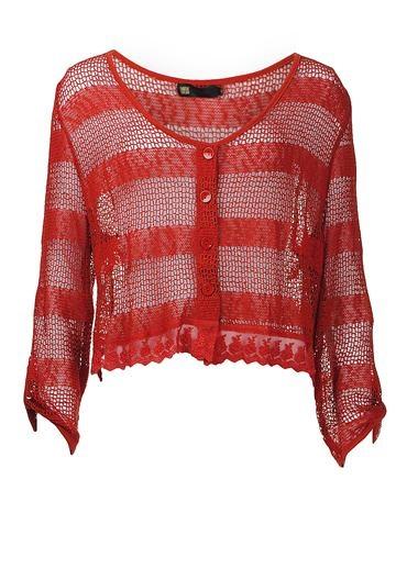 Purplerose Open Work Cardigan, Rust | McElhinneys Online Department Store
