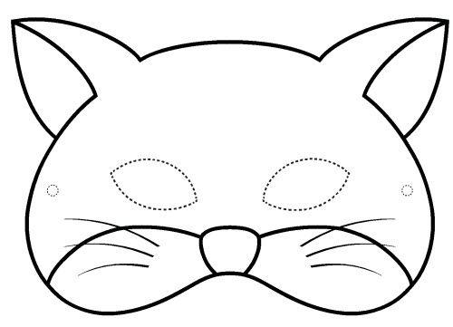 1000 ideas about masque de chat on pinterest chat a colorier coloriage masque and decoupage - Chat a colorier ...
