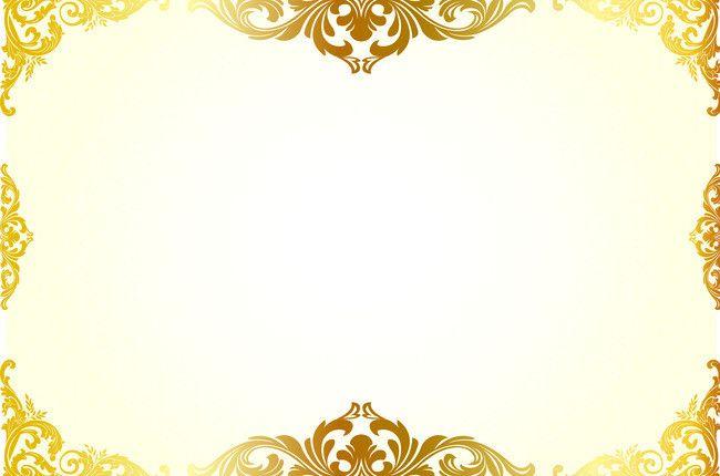 Simple Hand Painted Gold Pattern Border Background Material Poster Background Design Frame Border Design Gold Pattern