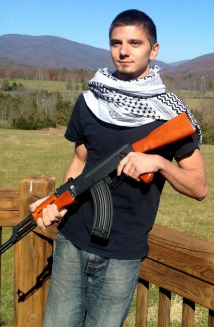 Democrat party staffer for Congressman Nick Rahall (D-WV) poses in Hamas terrorist scarf with AK-47 | RedFlagNews.com