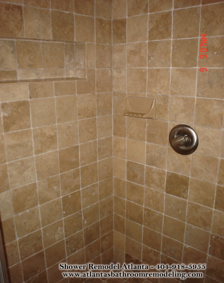 Medium Square Travertine Tile Shower Not A Huge Fan