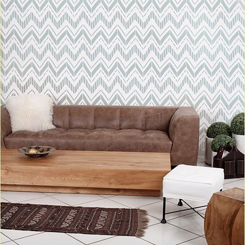 Tribe Allover Stencil - reusable stencil patterns for walls just like wallpaper - DIY decor
