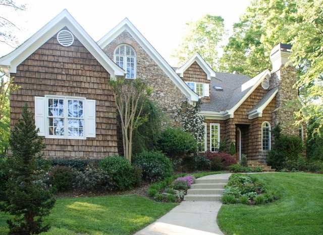 Cedar shingled home