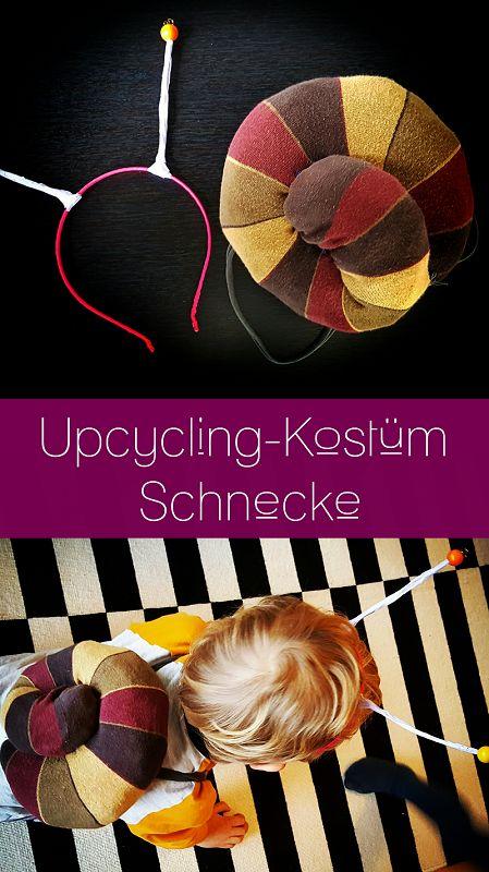 DIY – Upcycling Schneckenkostüm aus alten Strümpfen   – Grünes: Upcycling