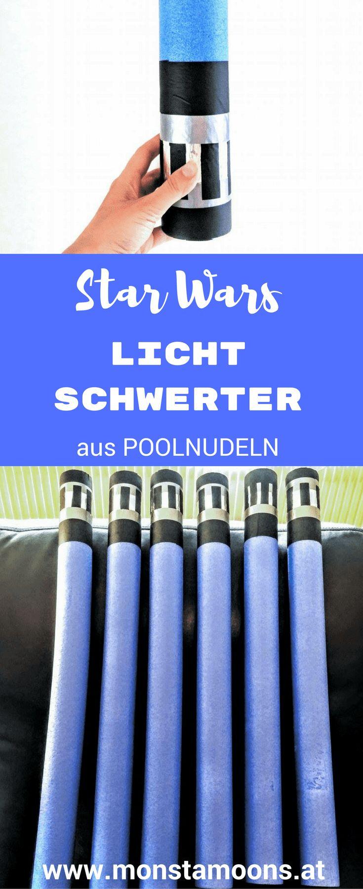 Star Wars Lichtschwerter basteln, Lichtschwert aus Poolnudel, Basteln mit Schwimmnudeln, Basteln für Halloween, Basteln für den Fasching
