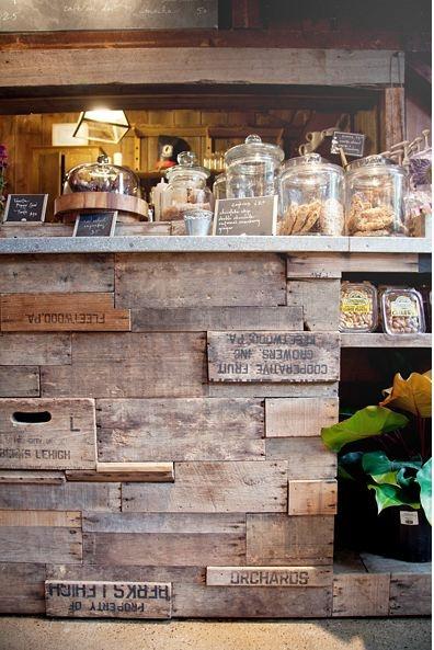 mostrador maderas recicladas