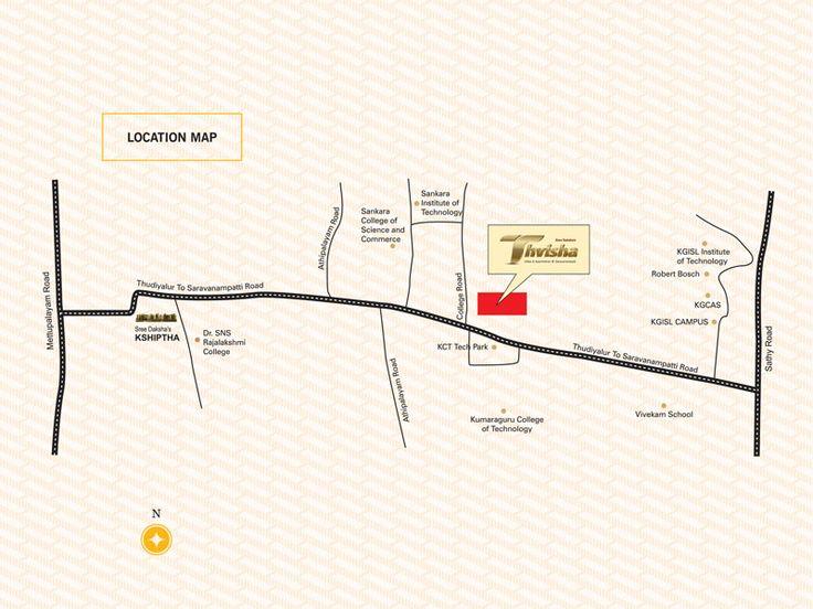 Sree Daksha's Thvisha - Location Map