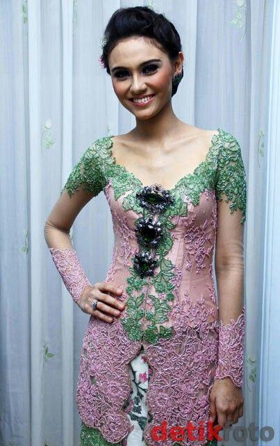 Fashion Kebaya Pinkgreen Wisuda Kebaya Pinterest