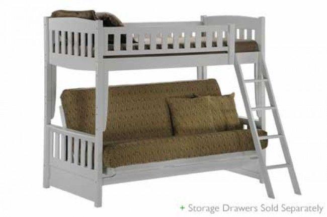Cinnamon White Futon Bunk Bed Sofa