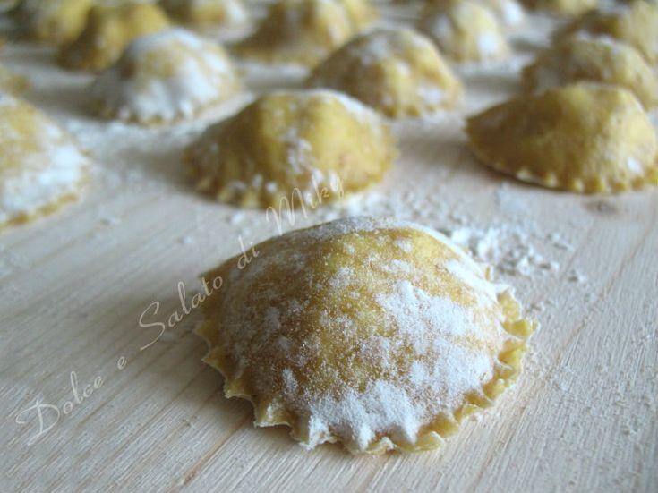 Ravioli con farina integrale ripieni di formaggi di Dolce e Salato di Miky
