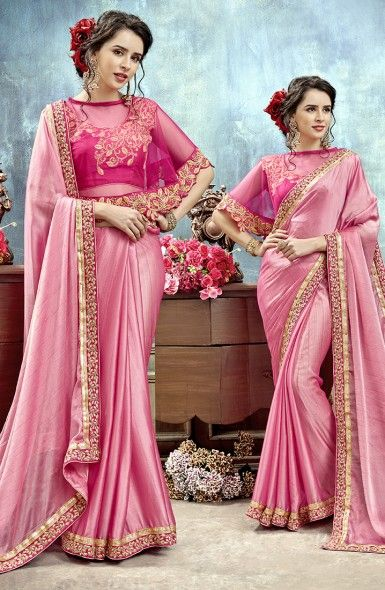 c494fe9dc6817 Designer Chiffon Sarees Wholesale Collection With Pochu Style Blouse   shopping  clothing  fashion  women
