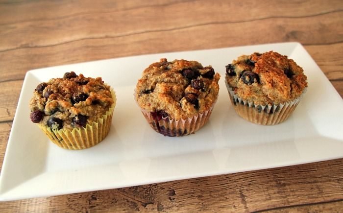 Better than Starbucks, Paleo Blueberry Muffin Recipe 2 1/2 cups almond flour 1 Tablespoon coconut flour 1/4 teaspoon salt 1/2 teaspoon baking soda 1 Tablespoon vanilla 1/4 cup coconut oil 1/4 cup maple syrup 1/4 cup coconut milk* 2 eggs 1 cup fresh or frozen blueberries 2-3 Tablespoons cinnamon