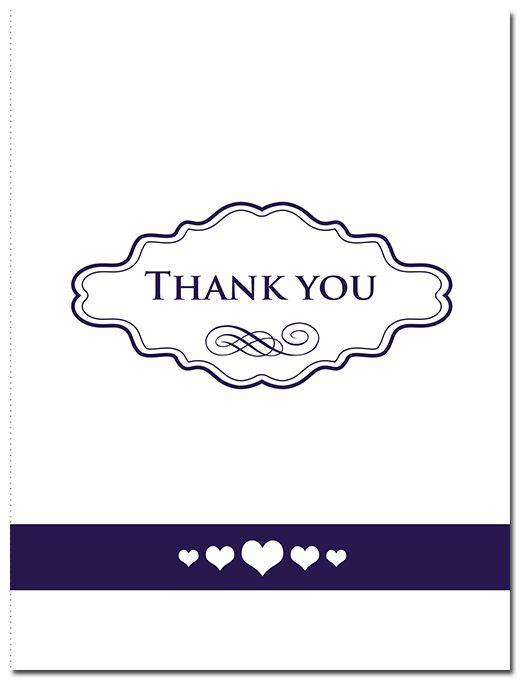 Classic Suite Thank You Card - paper, seed, thank, cards, printed, plain, add, ... - EcoCelebrations