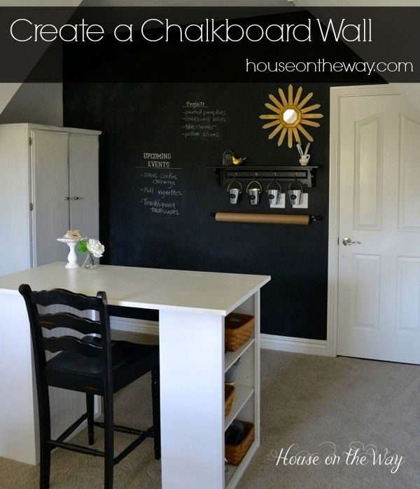 Create a chalkboard wall from houseontheway.com