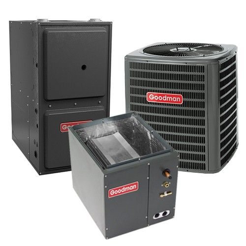 Goodman 1.5 Ton 13 SEER 92% AFUE Gas Furnace and Air Conditioner System - Downflow