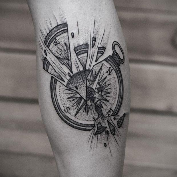 25 melhores ideias de tatuagem bussola no pinterest for Tatoo bussola