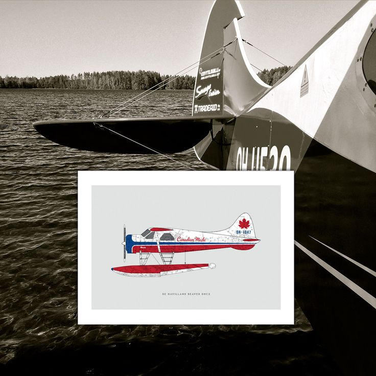 De Havilland Beaver DHC-2 art poster: First flight out of Malton Ontario, 1947. Another great Canadian invention! Makes a great gift for men, or decoration for a condo, apartment or man-cave!