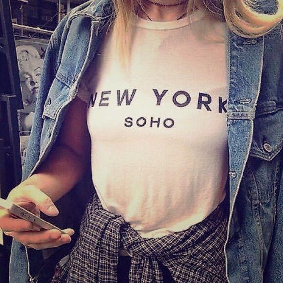 Brandy Soho muscle shirt Brandy Melville New York Soho muscle shirt, worn once! Brandy Melville Tops