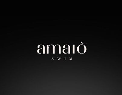 """Check out new work on my @Behance portfolio: """"Amaiò Swim Brand Identity"""" http://be.net/gallery/41190617/Amaio-Swim-Brand-Identity"""