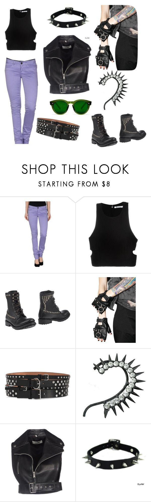 """Untitled #47"" by mariruse on Polyvore featuring Camouflage AR and J., T By Alexander Wang, Ash, Club Exx, Alexander McQueen and Jean-Paul Gaultier"