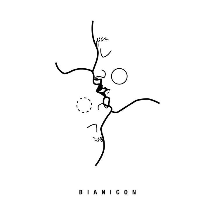 #line #kiss #simplicity #bianicon