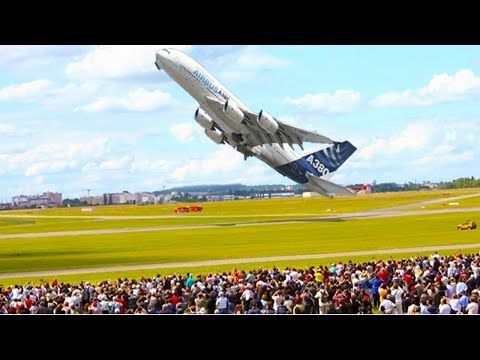 (1) AMAZING Airbus A380 A350 near VERTICAL Take-off ✱ LARGE COMMERCIAL BOEING vs AIRBUS - YouTube