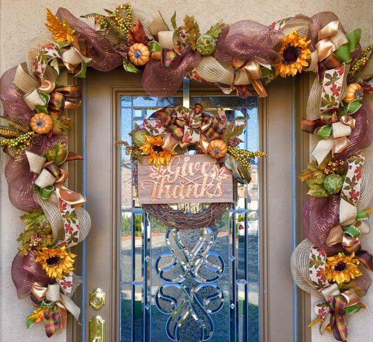 Garland For Front Door: Best 25+ Fall Front Doors Ideas On Pinterest