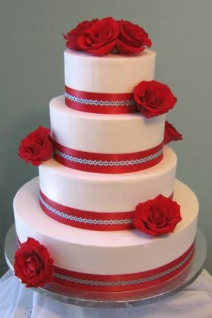 125 best red wedding cakes images on pinterest