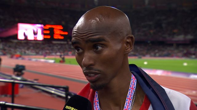 BBC Sport - Mo Farah wins Olympic 10,000m gold for Great Britain