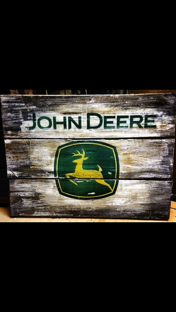 John deere pallet sign pallet wood plaque by CustomWoodSigns1