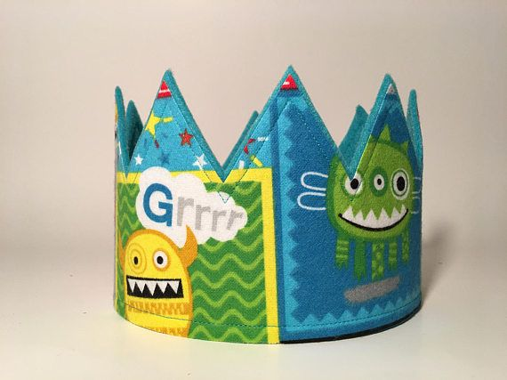 Black Monster Crown Monster Birthday Smash Cake Crown