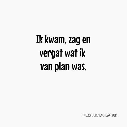 I came, I saw, but forgot what I came to do here #quote #dutch