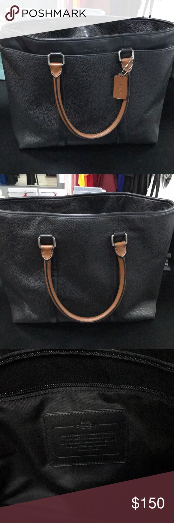 Coach tote bag Black gently used coach tote bag Coach Bags Laptop Bags